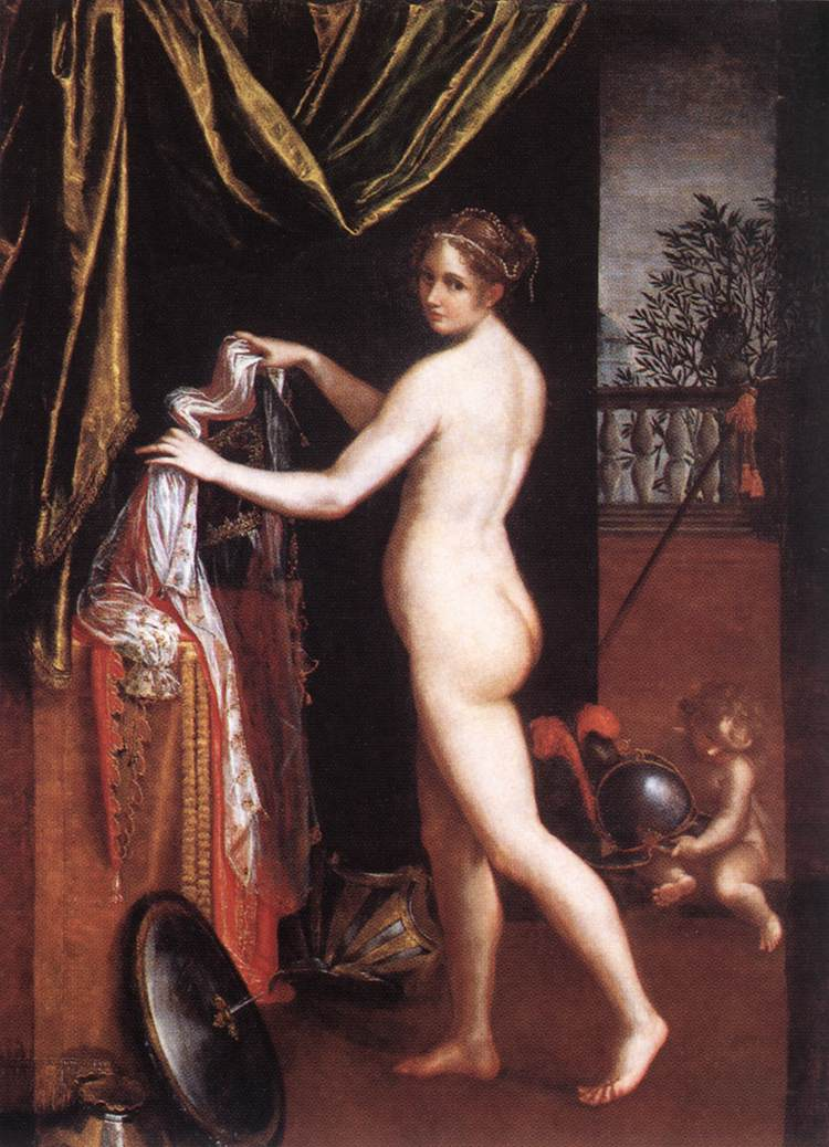 Minerva vistiendose Lavinia Fontana 1613