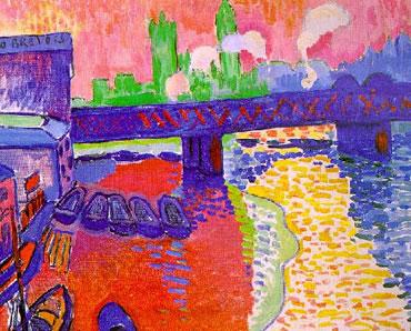 Skyline londinense Andre Derain cuadro fauvista