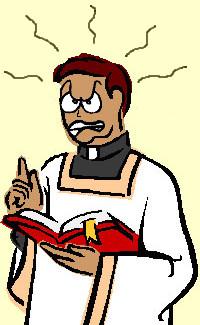 cura sacerdote enfadado