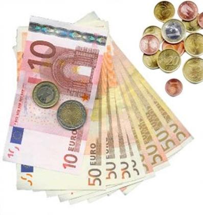 dinero monedas euro