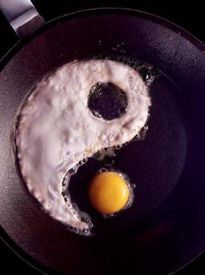 huevo yin yang