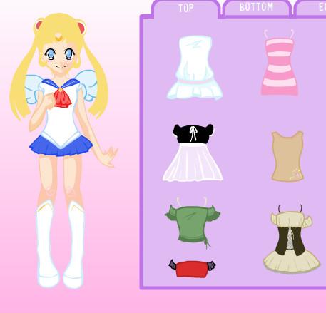Juego de anime para vestir a Sailor Moon