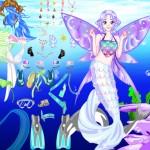 Juego para vestir y peinar a la sirena diosa del mar