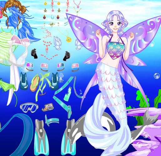 juego para vestir y peinar a la sirena diosa del mar | juegos