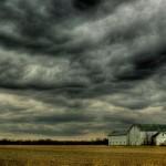 lluvia-cielo nublado plomizo waxing-storm campo
