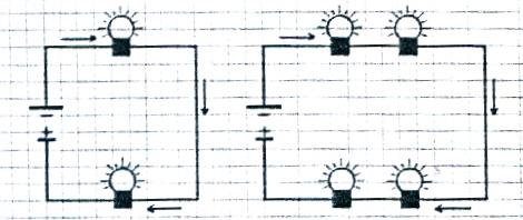 serie electricidad circuito
