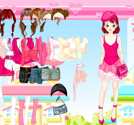 Vestidos y ropa de color rosa