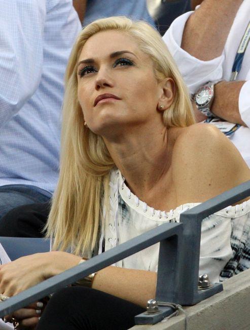 Gwen Stefani Roger Federer US Open 2009