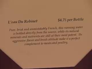 broma agua botella restaurante caro