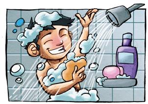 hombre ducha duchandose