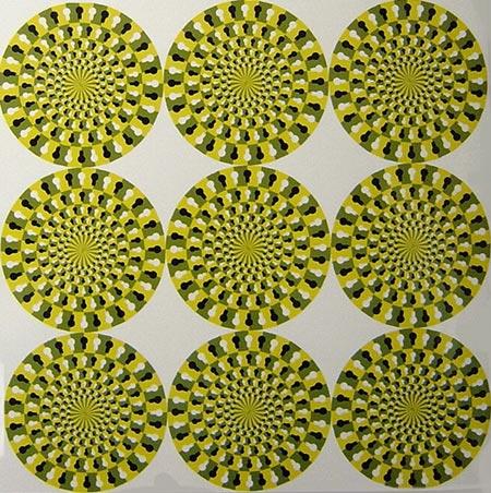 ilusiones opticas espirales giratorias