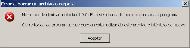 archivos bloqueados