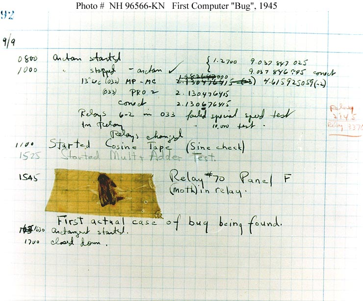 primer error bug polilla informatico programacion