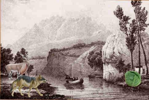 problema enigma rio cabra col lobo