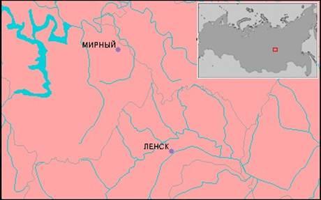 situacion mapa mirni mirny mirna agujero grande tierra