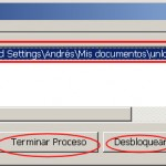 No se puede eliminar archivo: Está siendo usado por otra persona o programa