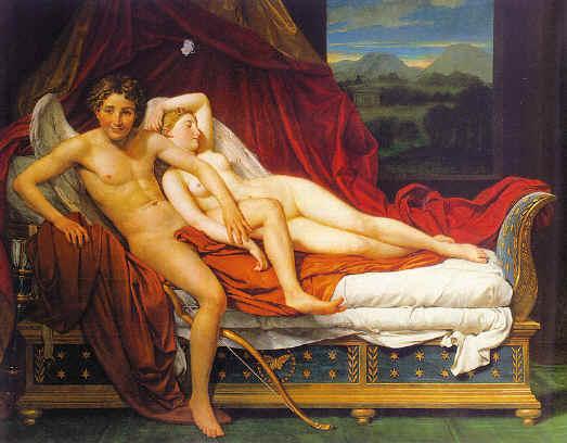 Cupido Psiquis Jaques-Louis David 1817 neoclasicismo