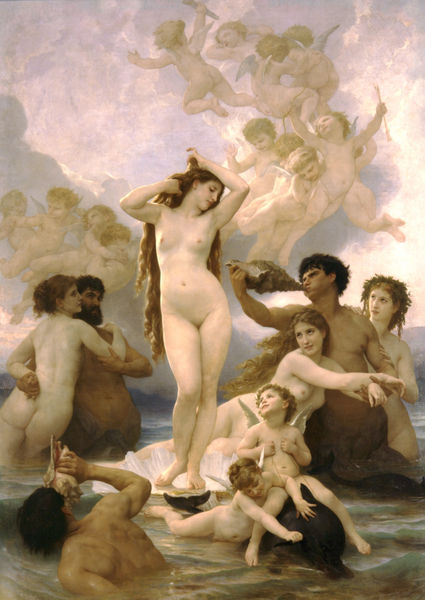 El nacimiento de Venus William Adolphe Bouguereau 1879