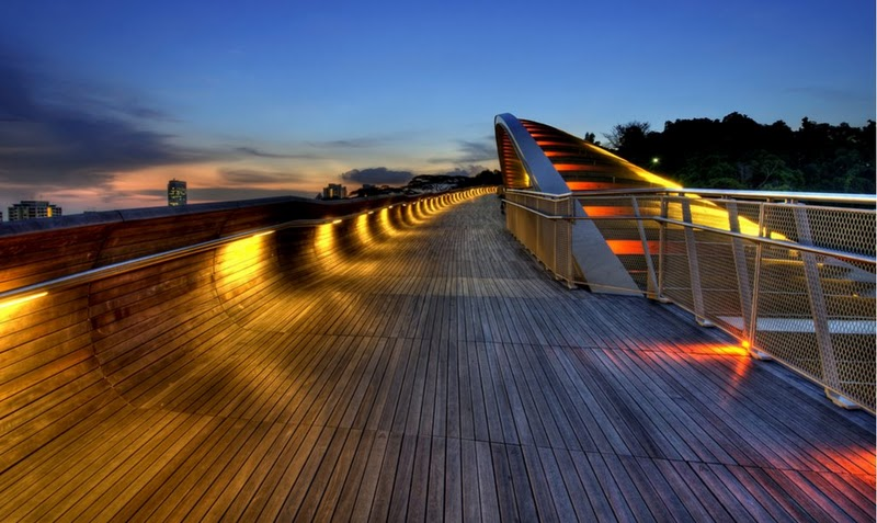Puente ondulado Henderson Singapur 2