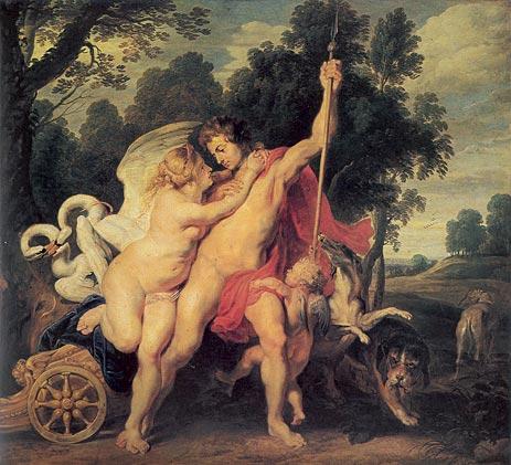 Venus Adonis Peter Paul Rubens 1615