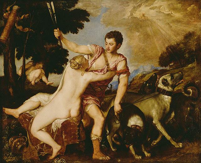 Venus Adonis Titian 1555