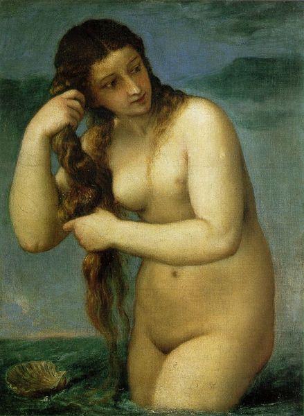 Venus Anadiomena Tiziano 1525