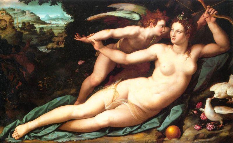 Venus Cupido Alessandro Allori 1570