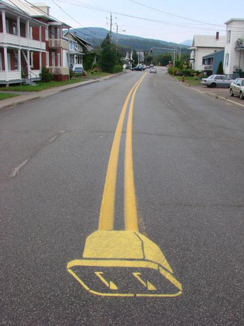 arte-callejero-carretera-lineas