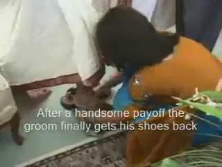 boda india robo zapatos novio