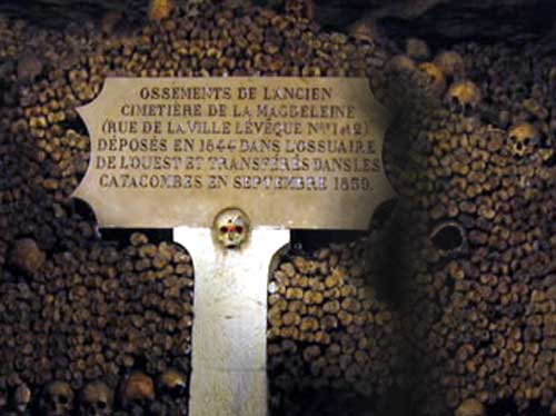 catacombes paris catacumbas 1876