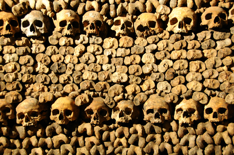 catacombes paris catacumbas foto