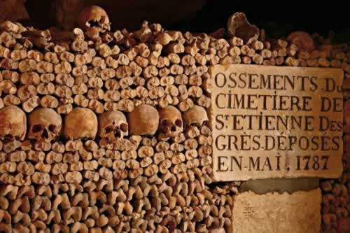 catacombes paris catacumbas fotografia