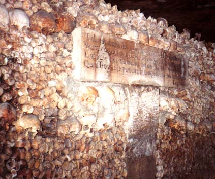 catacumbas paris catacombes inscripcion