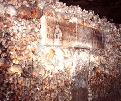 catacumbas paris catacombes inscripcion