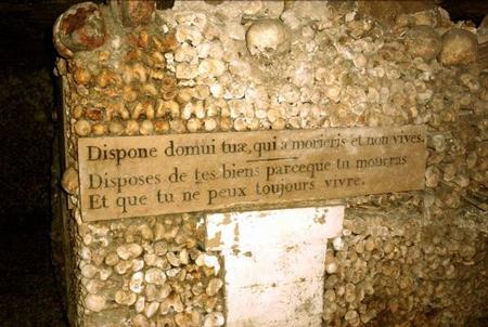 catacumbas paris catacombes paris francia