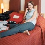 Calentón y chasco en la habitación del hotel
