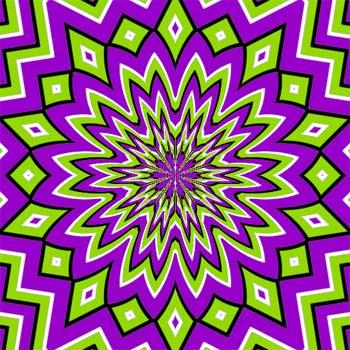 ilusion-optica-verde-violeta