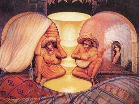 ilusiones opticas rostros caras humanos 4