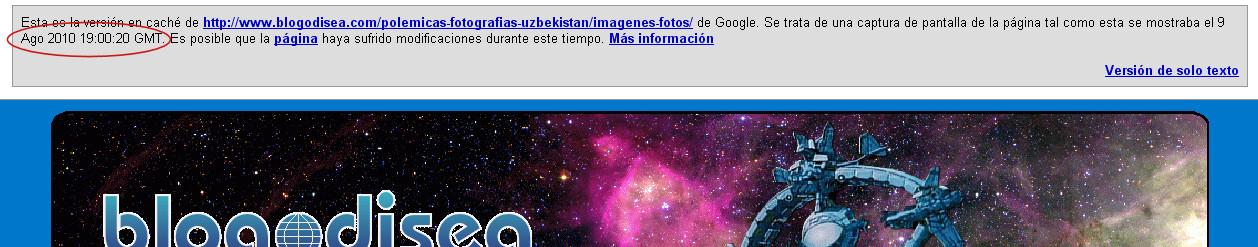 indexacion cache google url