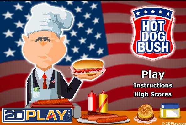 juego-bush-perritos-trabajando-hot-dog