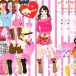 Juego de moda y ropa de San Valentín para chicas