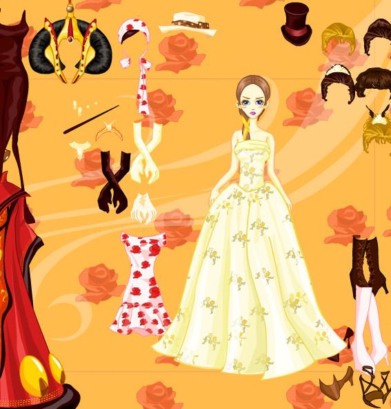 Juego para vestir a la emperatriz