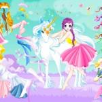 Juego de vestir hadas: La princesa del unicornio