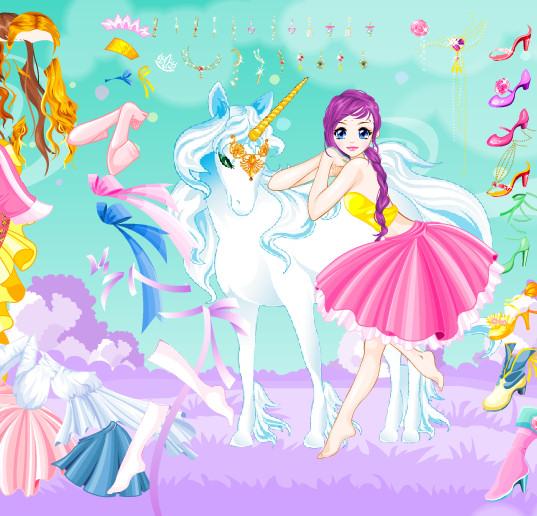 Juego De Vestir Hadas La Princesa Del Unicornio Juegos