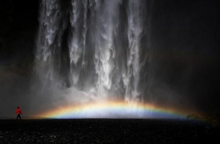 naturaleza-bella-cascada arco iris