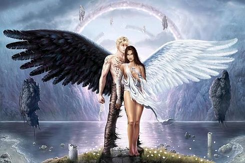 pin-up-femenino-gotico-mistico-hombre mujer angel