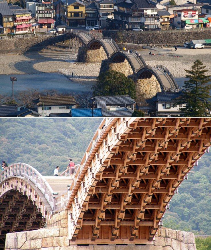 puente kintai iwakuni japon