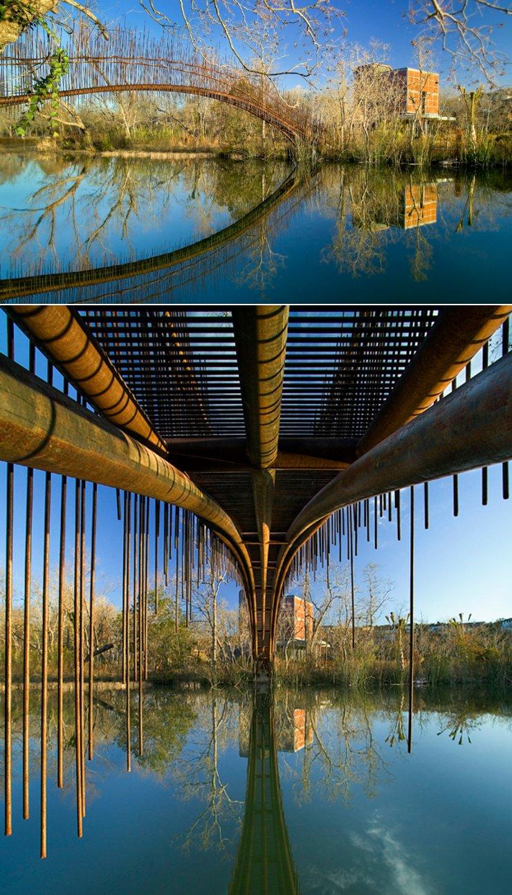 puente peatones Lago Austin Miro Rivera