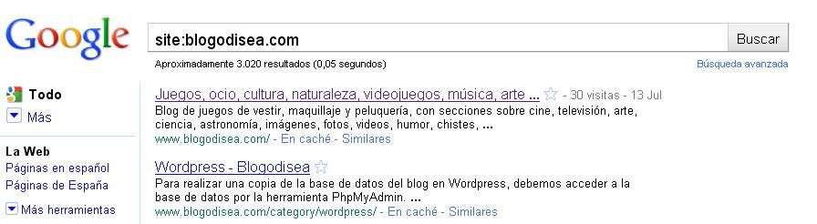 site indexacion google seo