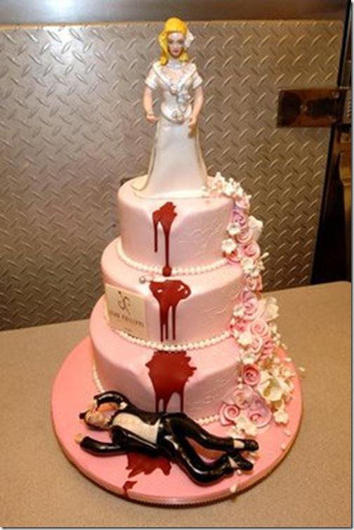 tartas raras originales divorcio boda
